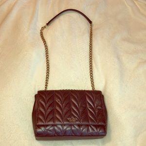 Silver/gray metallic Kate Spade crossbody bag